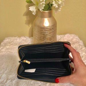 Coach Bags - COACH blue gingham accordion wallet